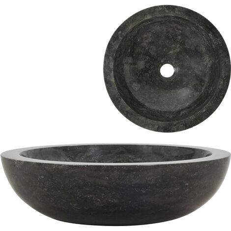 Évier 40 x 12 cm Marbre Noir