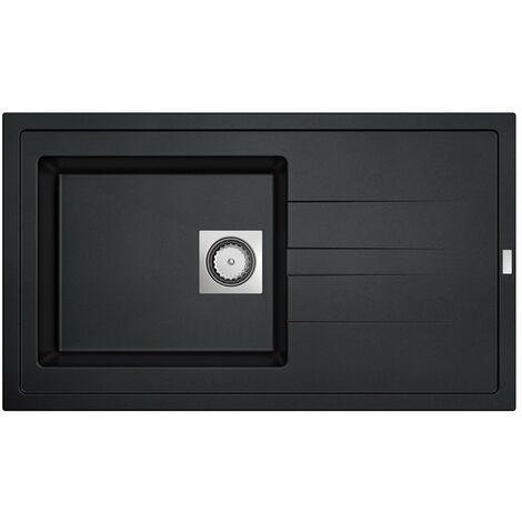 CAREA - Évier Granit ARCOS 1 cuve - Couleur - Noir - Noir