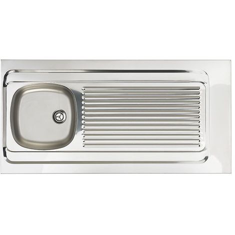 Evier a poser inox 18/10 lisse Lave vaisselle 1 cuve/1 égouttoir -1200x600