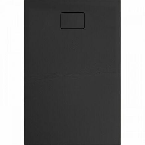 Evier ALLIBERT Receveur de douche effet pierre Terreno - 120x80 cm - Noir