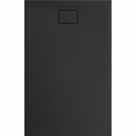 Evier ALLIBERT Receveur de douche effet pierre Terreno - 140x90 cm - Noir
