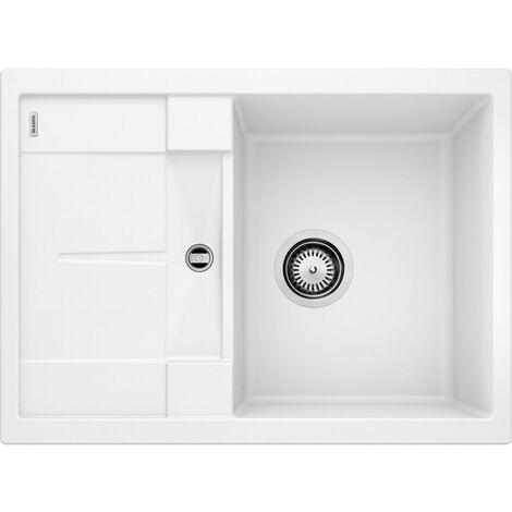Evier Blanco Metra 45S Compact Silgranit - Gris Rocher - Vidage : Manuel