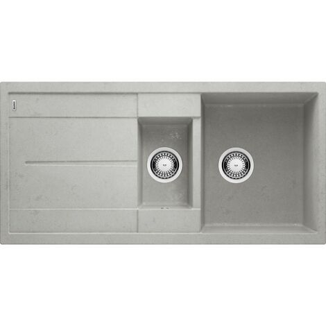 Evier Blanco Metra 6S Silgranit - Beton - Vidage : Automatique