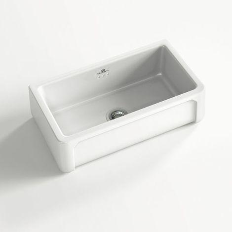 Évier céramique à poser KATE 1 bac blanc (795 x 470 x 220 mm)