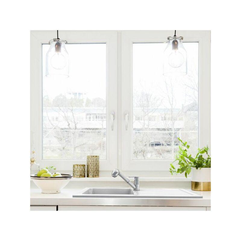 Evier céramique blanc VICTOIRE 1 bac 1 égouttoir - EWI