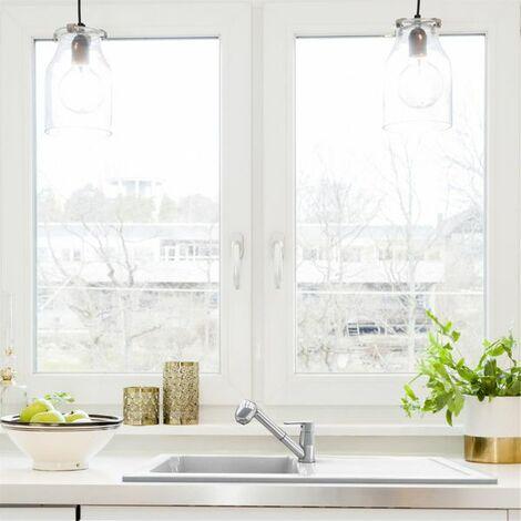 Evier céramique blanc EWI VICTOIRE 1 bac 1 égouttoir