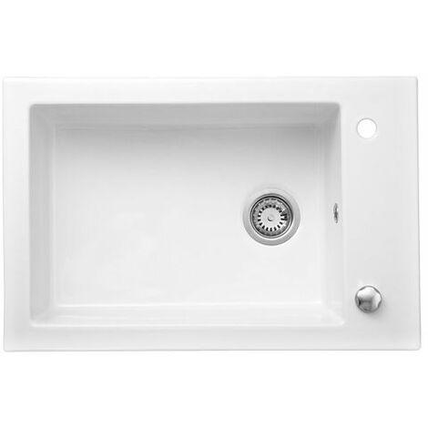 Évier céramique blanc GASPARD 1 bac 760x500 mm