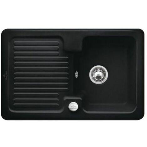 Evier céramique noir mat Villeroy & Boch CONDOR 1 bac 1 égouttoir
