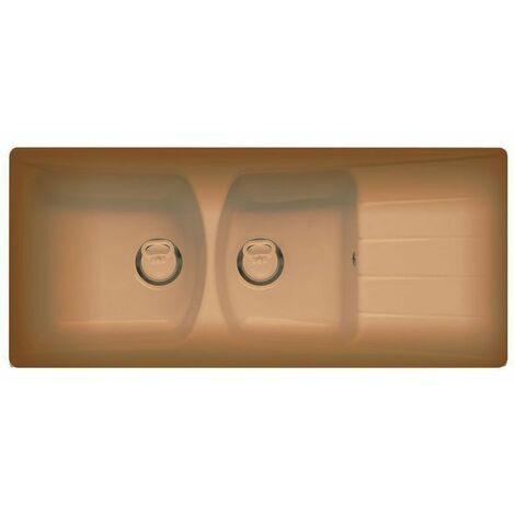 Evier céramique terre de france EWI LINA 2 bacs 1 égouttoir