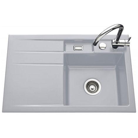 Évier de cuisine aluminium BELA - égouttoir à gauche - L 780 x l 510 x P 200 mm - sous-meuble 45 cm - Aquatop