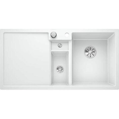 Évier de cuisine Collectis 6S - Gris Perle - sous-meuble 60 cm - L 1000 x l 500 x P 190 mm + Bac de tri - Blanco