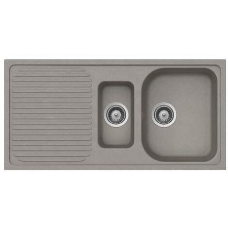Évier de cuisine Cristalite Scandinave - 1000 x 500 x 205 mm - sous-meuble 60 cm - Coloris Taupe - Schock