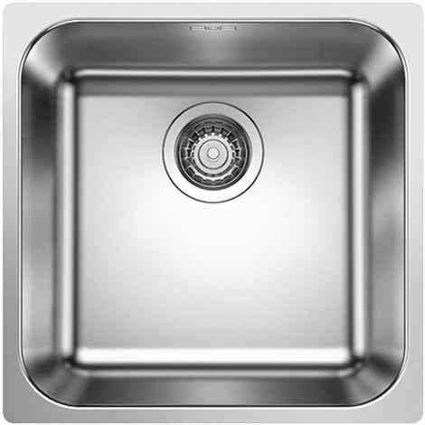 Évier de cuisine en inox Blanco SUPRA 400-IF/A - L 400 x l 400 x P 175 mm - sous-meuble 45 cm - Blanco