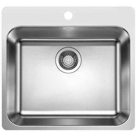 Évier de cuisine en inox Blanco SUPRA 500-IF - L 500 x l 400 x P 175 mm - sous-meuble 60 cm - Blanco