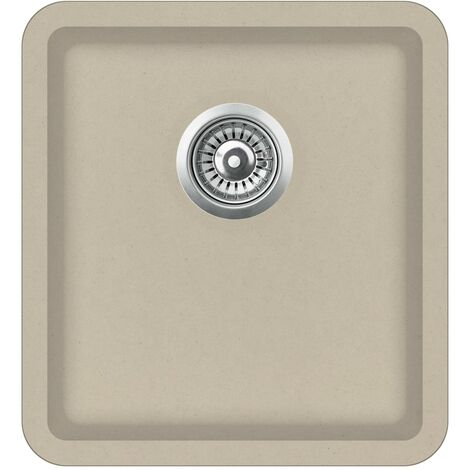 Évier de cuisine Granit Seul lavabo Beige