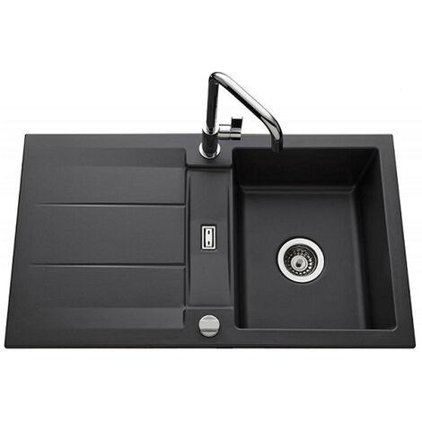 Évier de cuisine gris anthracite GENEA - L 870 x l 510 x P 220 mm - sous-meuble 60 cm - Aquatop
