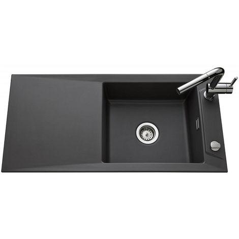 Évier de cuisine gris anthracite SIRO - L 1000 x l 490 x P 200 mm - sous-meuble 60 cm - Aquatop