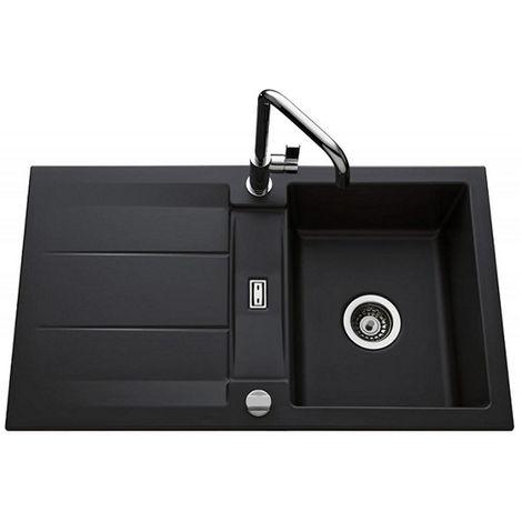 Évier de cuisine nigra GENEA - L 870 x l 510 x P 220 mm - sous-meuble 60 cm - Aquatop