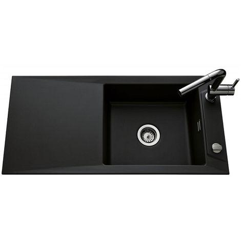 Évier de cuisine nigra SIRO - L 1000 x l 490 x P 200 mm - sous-meuble 60 cm - Aquatop