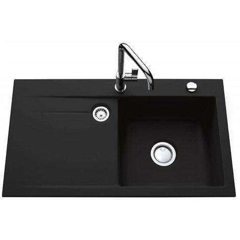 Évier de cuisine nigra STEMA égouttoir à droite - L 900 x l 510 x P 200 mm - sous-meuble 60 cm - Aquatop