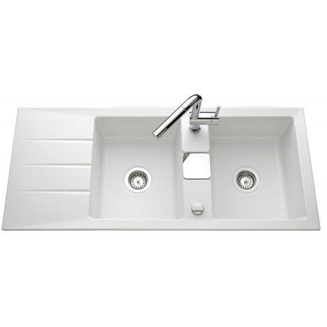 Évier de cuisine polaris mat GENEA - L 1160 x l 510 x P 200 mm - sous-meuble 90 cm - Aquatop