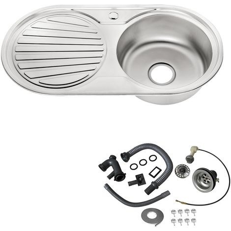 Evier en acier inoxydable, intégré, lavabo, pile/ évier de cuisine en acier anguleux