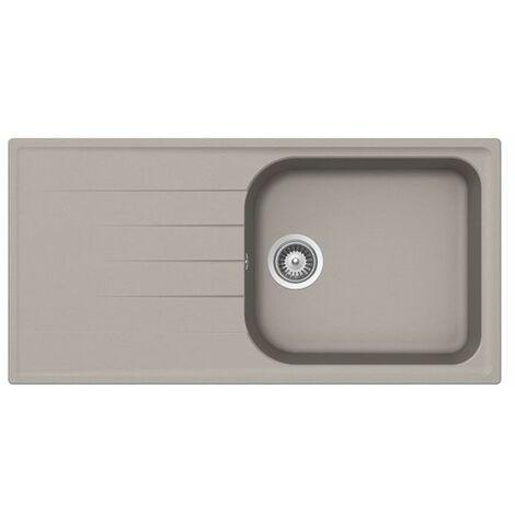 Évier granit gris béton Schock VIOLA 1 grand bac 1 égouttoir