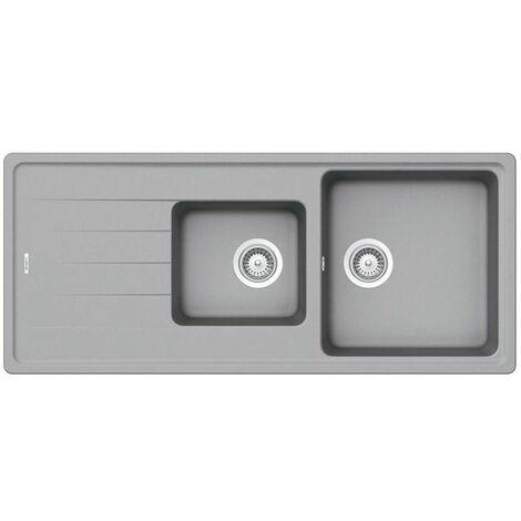 Évier granit gris Schock ELEMENT 2 bacs 1 égouttoir