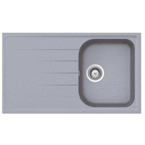 Évier granit gris Schock VIOLA 1 bac 1 égouttoir