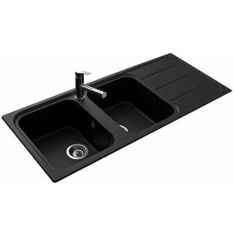 vier granit noir ewi oglio 2 bacs 1 gouttoir. Black Bedroom Furniture Sets. Home Design Ideas