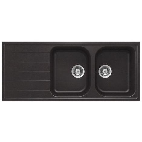 vier granit noir schock viola 2 bacs 1 gouttoir. Black Bedroom Furniture Sets. Home Design Ideas