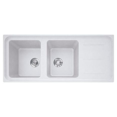 Evier IMPACT IMG621 Blanc Artic (sous meuble 80cm) 1160x500x220mm