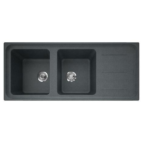 Evier IMPACT IMG621 Graphite (sous meuble 80cm) 1160x500x220mm