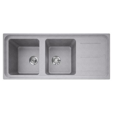 Evier IMPACT IMG621 Platinum (sous meuble 80cm) 1160x500x220mm