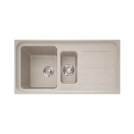 Evier IMPACT IMG651 Café crème (sous meuble 60cm) 970x500x220/140mm
