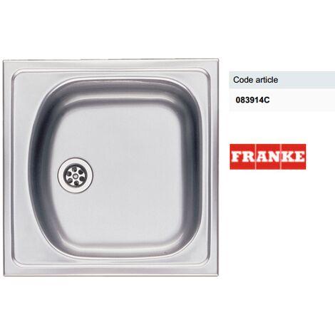 Evier inox à encastrer 1 bac - Dimensions : 45,5 x 43,5 cm - - ETX610 Emballé en carton