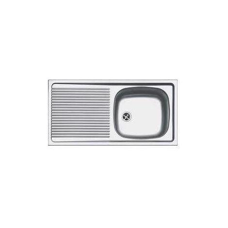 Évier inox à encastrer 1 cuve 1 égouttoir 860x435mm - ESX611-86
