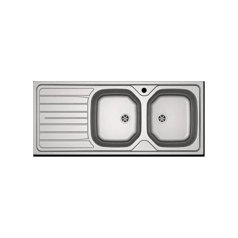 Évier inox à encastrer FRANKE - 2C/1E REL 621 - 1160x500 mm - 898823