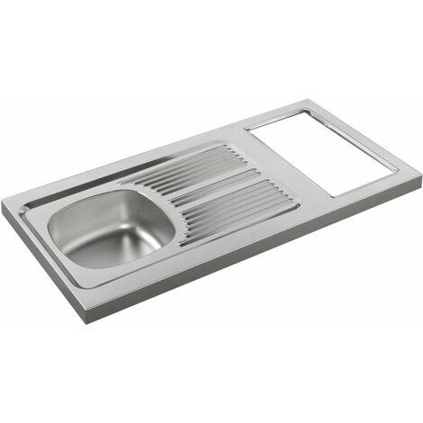 Evier Inox à poser pour kitchenette 120x60 H5cm