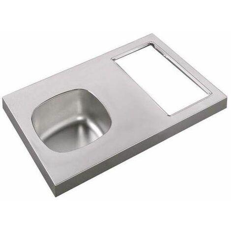 Evier kitchenette 90x60, avec découpe à droite pour Domino (non fourni)