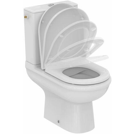 Evier Pack WC a poser - EXACTO - sans bride - abattant frein de chute - Blanc - Ideal Standard - R006901