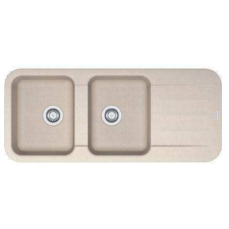 Evier PEBEL FRAGANIT PEG621 Café Crème (sous meuble 80mm) 1160x500x200mm