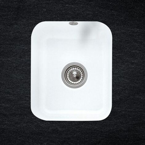 Evier sous plan céramique blanc Villeroy & Boch CISTERNA 1 bac 370x435