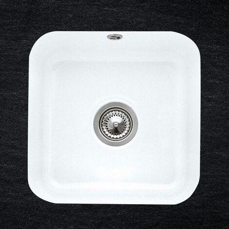 Evier sous plan céramique blanc Villeroy & Boch CISTERNA 1 bac 445x445