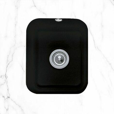 Evier sous plan céramique noir mat Villeroy & Boch CISTERNA 1 bac 370x435