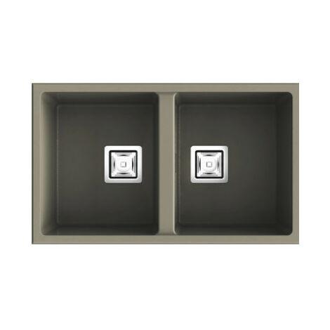 Évier synthétique ZIE 70 2C - 70 x 40 cm POALGI