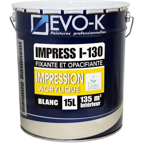 EVO-K SOUS-COUCHE PROFESSIONNELLE PLAQUE DE PLÂTRE I-130 15 L BLANC MAT EV-IPL-ECO-00000-15L