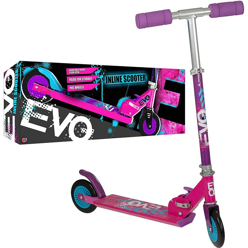 Image of Pink Folding Inline Scooter - EVO