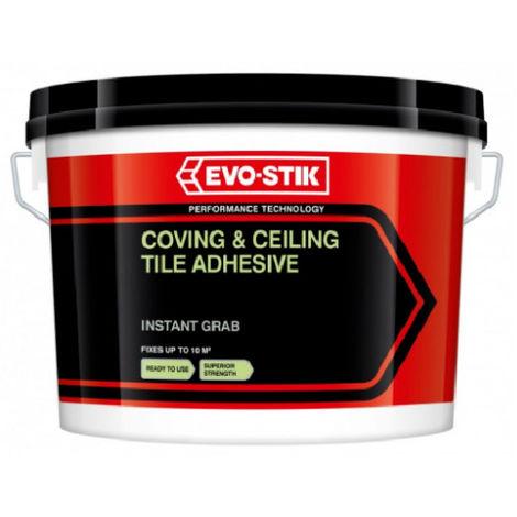 Evo Stik 2.5 Litre Coving & Ceiling Tile Adhesive 10m2 per Tub Cove Glue