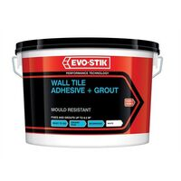 Evo-Stik 30812624 Mould Resistant Wall Tile Adhesive & Grout 5 Litre